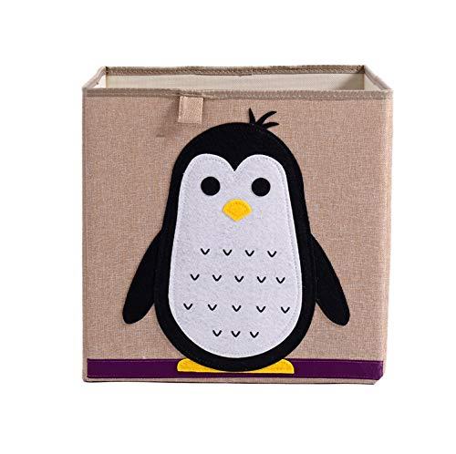 (PG-One Cute Cartoon Animal Storage Box Kid Toy Clothing Storage Organizer Embroidery Cotton Linen Bins Children Sundries Storage Boxes,2)