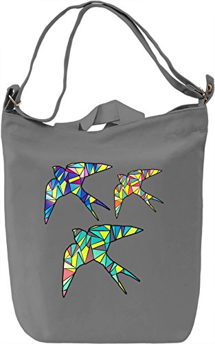 Geometric Birds Borsa Giornaliera Canvas Canvas Day Bag| 100% Premium Cotton Canvas| DTG Printing|