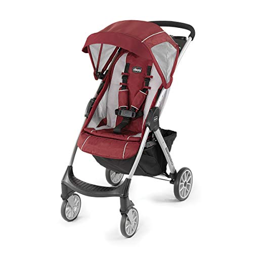 Chicco Mini Bravo Lightweight Stroller – Chili, Red