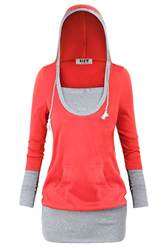 DJT Womens Color Hoodie Casual