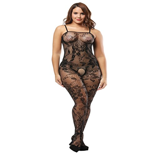 Open Bodystocking (Deksias Crotchless Bodystocking Plus Size Open Crotch Lingerie)