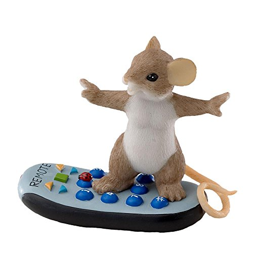 Charming Tails Mouse Figurine Channel Surfing