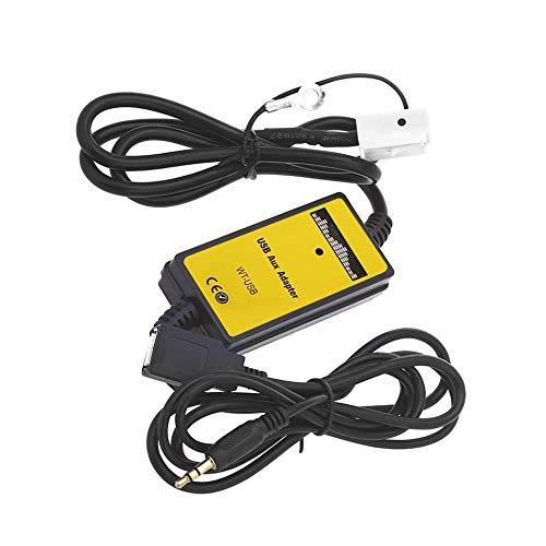 SODIAL Interfaz de Audio del Coche Cable de Datos USB Mp3 para // Skoda//Seat 12P Conectar CD Cambiador Ssd//Shsd//Mmc Tarjeta USB Stick Jugar