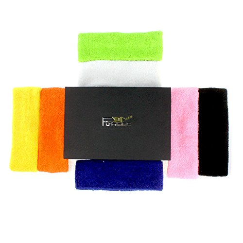 Headbands for Men and Women 7 PCS Sports Thick Cotton and Fiber Yoga Headband