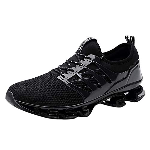 - JJLIKER Unisex Fashion Sneakers Mesh Lightweight Breathable Non-Slip Athletic Sport Fitness Jogging Running Shoes