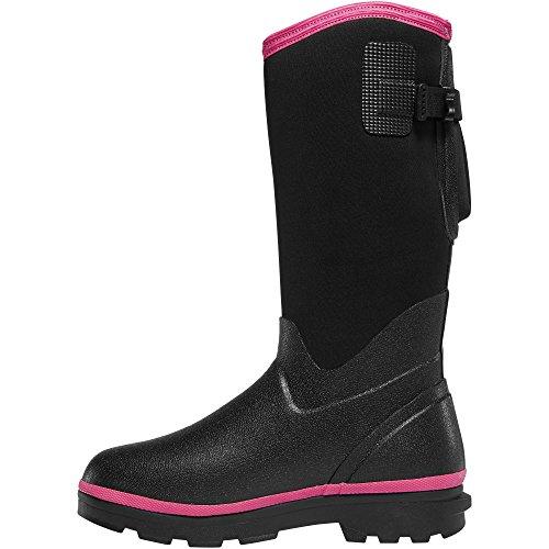 Lacrosse Mujeres Alpha Range 12 Negro / Rosa 5.0mm (602246) | Impermeable | Bota De Combate De Caza Cómoda Y Moderna Con Aislamiento Lo Mejor Para Barro, Nieve