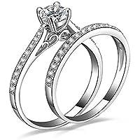 حجم 7 البلاتين مطلي زركون خاتم الخطوبة خاتم الزواج