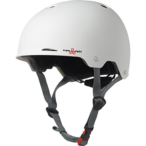 Triple Eight Gotham Matte Helmet, White, Large/X-Large