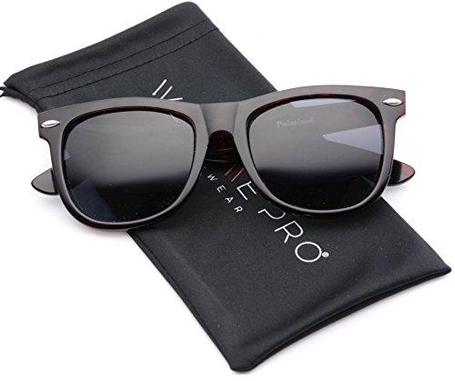Reflective Revo Color Lens Large Horn Rimmed Style Sunglasses (Polarized Tortoise, - Sunglasses Mens Sale