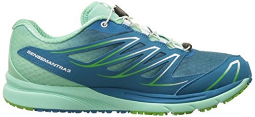 Salomon Womens Sense Mantra 3 W Trail Loopschoen Fog Blue / Lucite Green / Tonic Green