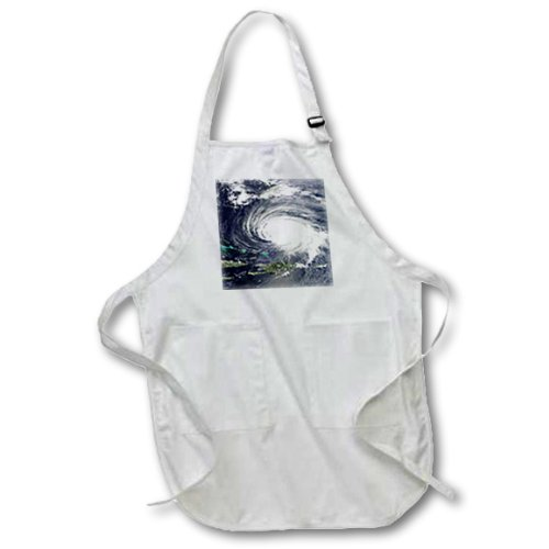 3dRose apr/_163612/_2 Image of Hurricane Aerial View Medium Length Apron with Pouch Pockets 22 by 24-Inch