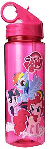 Silver Buffalo MLP3064 My Little Pony Group Shot Tritan Water Bottle, 20 oz, Purple