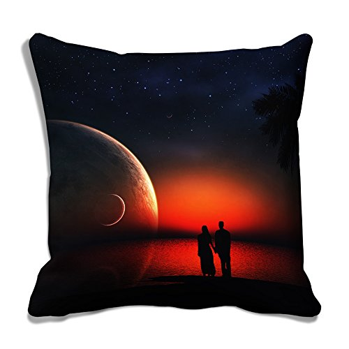 meSleep Moon Love 3D Cushion Cover Black Bed Case Floor Seating Pillow Case Throw 12