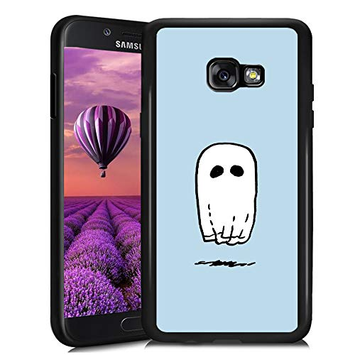 Samsung Galaxy A5 2017 Case,Flexible Soft TPU Cover Shell,Slim Silicone Black Rubber Non-Slip Durable Design Protective Phone Case for Samsung Galaxy A5 2017 -Spooky Ghost Sheet]()