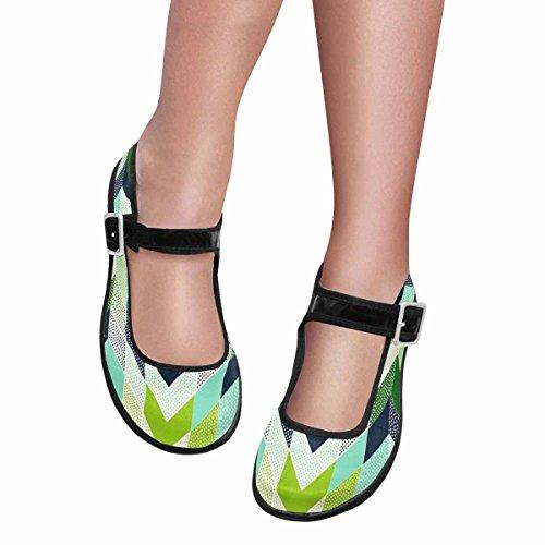 Interestprint Mujeres Comfort Mary Jane Flats Zapatos Casual Para Caminar Multi 14