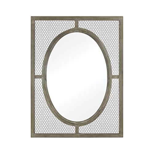(Elk Renaissance Invention Wall Small Mirror, Salvaged Grey Oak)