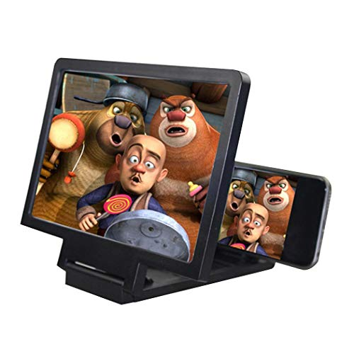 Oguine 3D Phone Screen Magnifier 8.2 Inch Stereoscopic Movies Amplifying Desktop Practical Phone Bracket Stand Holder