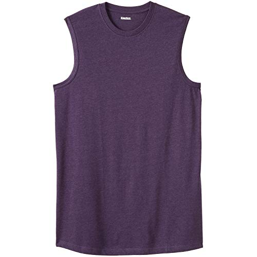 KingSize Men's Big & Tall Lightweight Muscle T-Shirt, Heather Dark Purple -