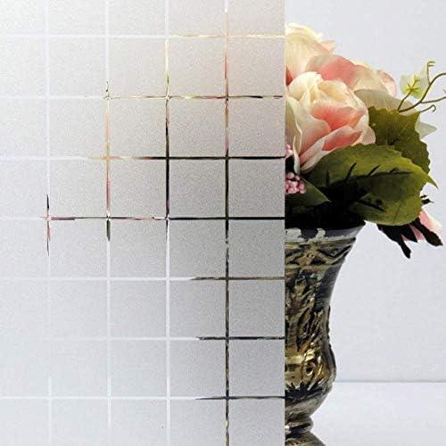 ガラスフィルム窓フィルムキッチン寝室防水静電気防止浴室プライバシー保護ガラスステッカー窓フィルム装飾、45×200センチ