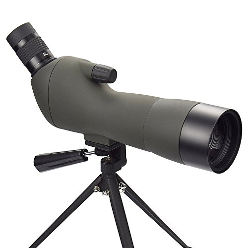 Twod Spotting Scope 20-60x 60 mm/25-75X 70 mm Waterproof, 45 Degree Angled Eyepiece with Tripod for Bird Watching Telescope, Target Shooting, Outdoor Activities