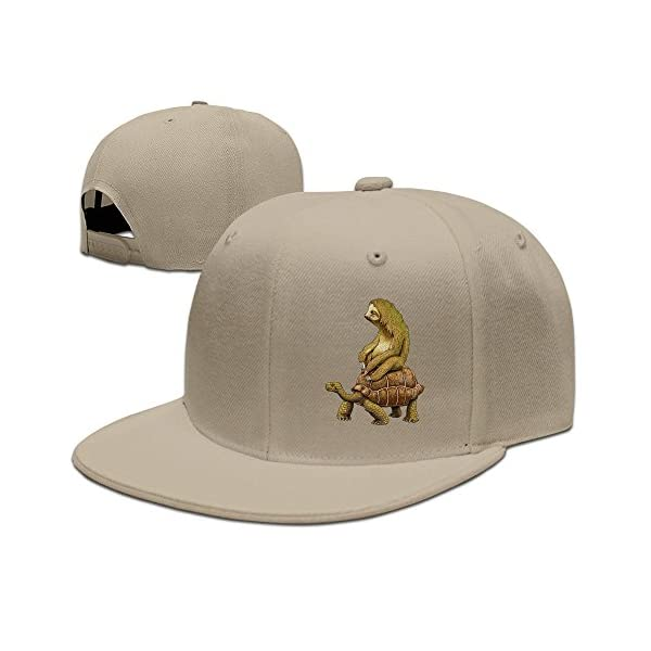 Peaked Live Slow Sloth Tortoise Cap For Man -