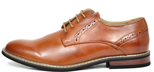 Bruno Marc Men's Prince-16 Brown Leather Lined Dress Oxfords Shoes – 12 M US