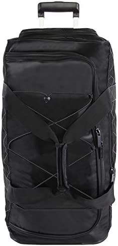 "Perry Ellis Men's Extra Large 35"" Rolling Duffel Bag-A335, Black/Grey, One Size"