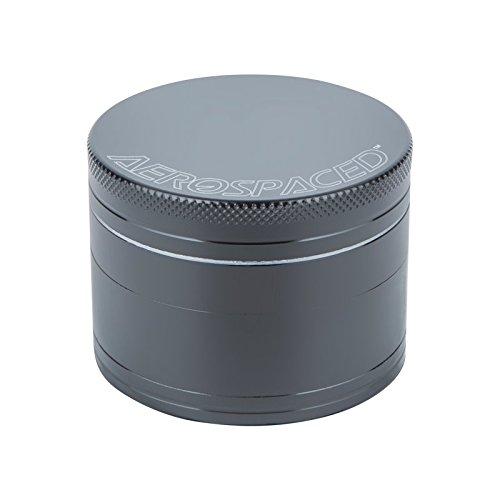 AEROSPACED-Herb-Grinder-with-Magnetic-Top-4-piece-50mm-Multiple-Colors-Available-Gunmetal