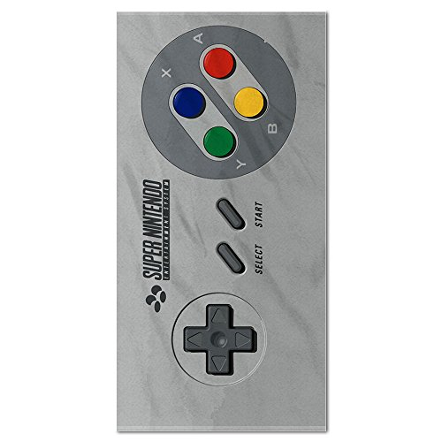 SFC Old Video Game Controller Beach Towel