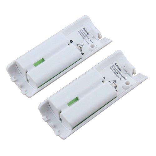 OSAN 2x 2800mAh Hohe Kapazität wiederaufladbar Batterie Pack Akkus für Nintendo Wii Remote Controller (Weiss)