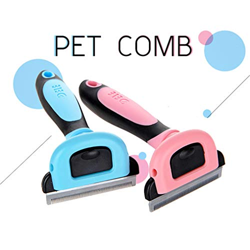 wenan-lingyu Combs Dog Hair Remover Cat Brush Grooming Tools Detachable Clipper Attachment Pet Trimmer Combs for Cat Pet Supply Blue M