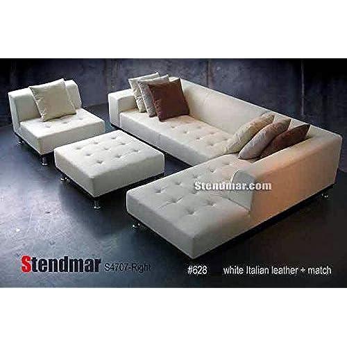 Genuine Leather Sectional: Amazon.com