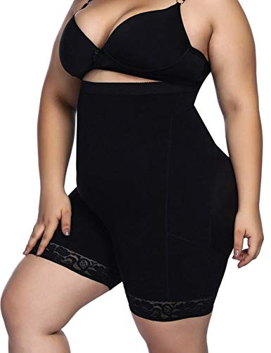 Seamless Plus Size Shapewear Tummy Control Body Shaper Control Panty Plus Black 4XL (Best Tummy Control Shapewear Plus Size)