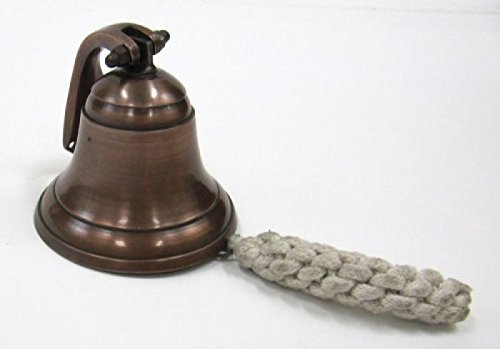 Solid Aluminum Bell with Wall Mount, 4'' - Nautical Collection