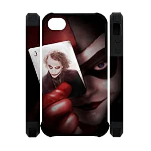 Personalized design Classic Harley Quinn with the Joker in the Card iPhone 6 plus 5.5 3D Case Cover