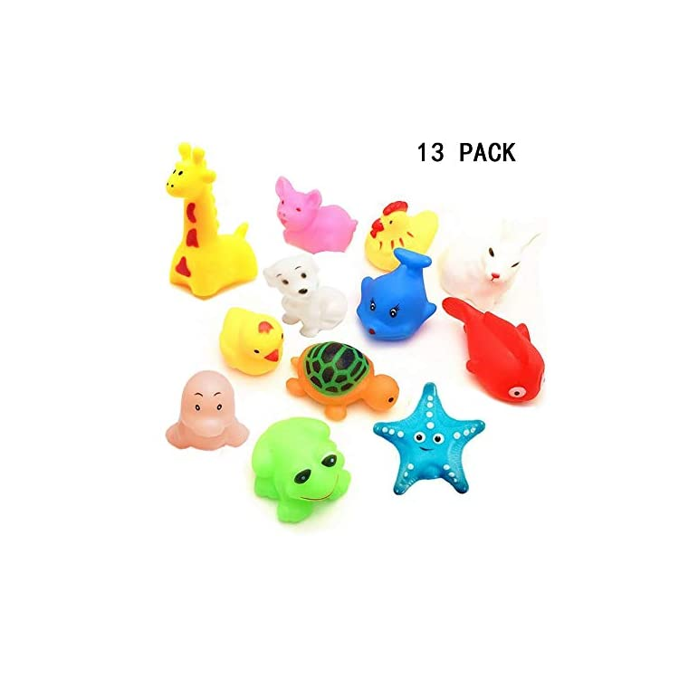 Toddlers /& Baby 13-Pack Kabvry Bath Toy,Little Squirt Voice Fun Bath Toys-for Kids