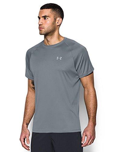 Under Armour Men's HeatGear Run Short Sleeve T-Shirt, Steel /Reflective, X-Large by Under Armour (Image #2)