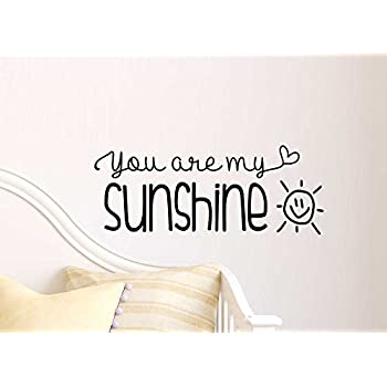 You Are My Sunshine Cute Wall Vinyl Decal Quote Lettering Art Saying Sticker  Stencil Nursery Wall Decor