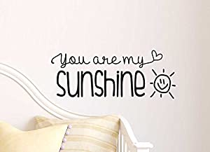 You Are My Sunshine Cute Wall Vinyl Decal Quote Lettering Art - Wall decals you are my sunshine