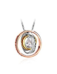 """Necklace, 925 Sterling Silver CZ Pendant Necklace J.Rosée Fine Jewelry for Women """"Dream"""" 18""""+2""""Extender, Ideal Christmas Gifts Birthday Gifts for Daughter Girlfriend Mother"""