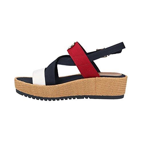 Tommy rouge T Blanc 36 Rwb Casual Flatform Hilfiger Zapato noir wwqPZUT