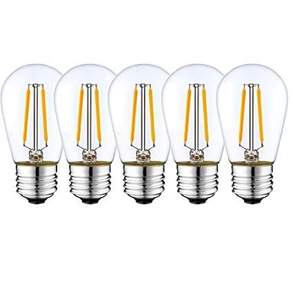 Ashialight Low Voltage Led Bulb 3 Volt E26 Base Edsion Style Warm White 2 Watt Equal 15 Watt Incandescent Bulb 5pcs