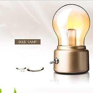 Durable Bombilla LED de la vendimia luz de la noche retro