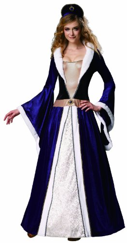 HGM Costume Women's Elegant Empress, Black/Blue/White, Large (Royal Empress Adult Costume)
