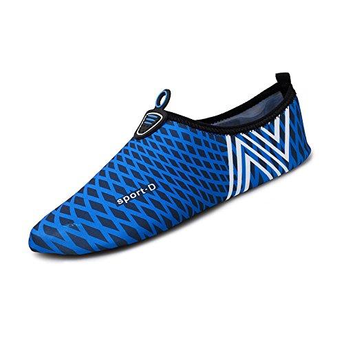 Lucdespo padre zapatos niño la tesoro calzados natación de cuidado Running yoga de de parejas fitness Secado piel para el descalzos azul 4 rápido suaves deportes SK rCZrqn