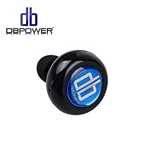 DBPOWER Mini Stereo Wireless Bluetooth Earbuds Headphones with Mic, Black