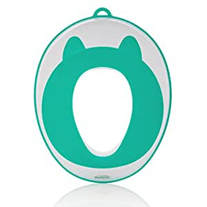 Potty Training Seat Toddler Toilet Seat Potty Training for Boys & Girls | Baby Potty Ring Non-Slip Surface | Storage Hooks, Medals & Training eBook | Stylish Gift | by Perfechi