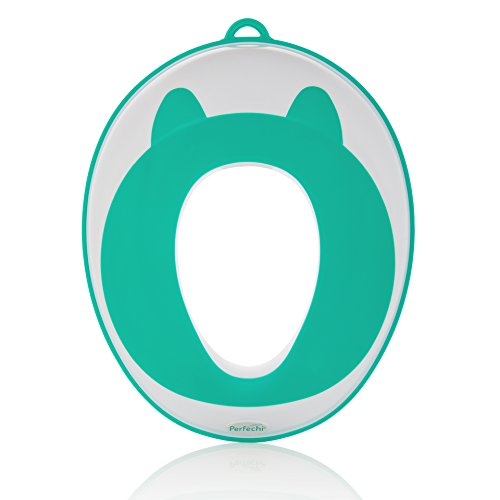 Potty Training Seat Toddler Toilet Seat Potty Training for Boys & Girls | Baby Potty Ring Non-Slip Surface | Storage Hooks, Medals & Training eBook | Stylish Gift | by Perfechi (Oval Commode)
