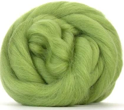 1 Ounce Green NZ Corriedale Wool Roving for Felting