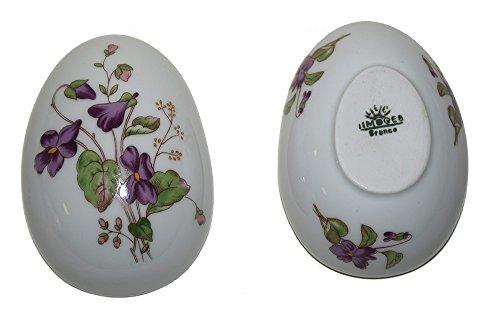 - Limoges French Egg Trinket Box (Violet)